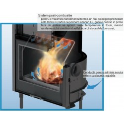 H2Oceano 28 CS - focar centrala termica cu lemne, putere termica utila totala = 28 kw