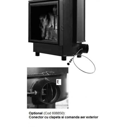 Conector cu clapeta si comanda pentru aerul din exterior