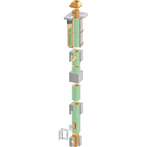 Cos de fum Isofix IP 16, d=18cm, racord 90, H=7.5ml