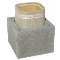 Cos de fum Isofix IP 16, d=18cm, racord 90, H=8.5ml