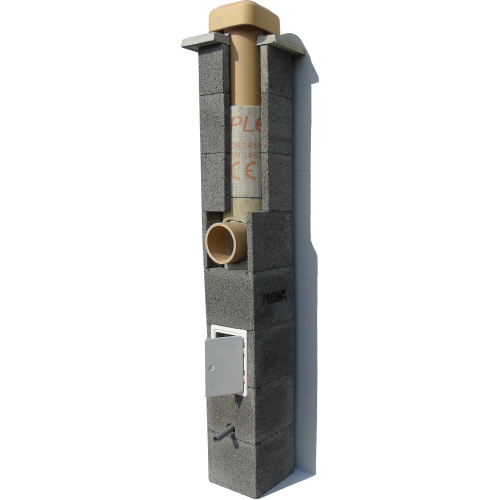 Cos de fum PLEWA R20, d=20 cm, racord 45°, H=10ml