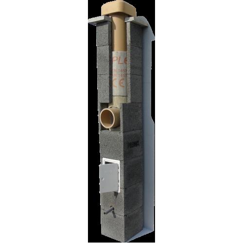 Cos de fum PLEWA R20, d=20 cm, racord 90°, H=8.5ml
