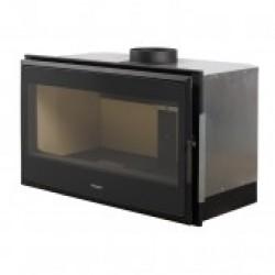NATURE 100 - 12 kw, focar cu lemne modern si generos, circulatia aerului ventilata si controlul arderii prin telecomanda