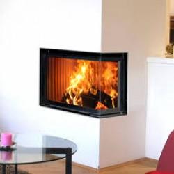 ECK 13 KW, focar de semineu cu lemne, de inalta calitate a fontei, placat in camera de ardere cu samota