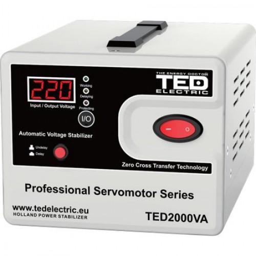 Stabilizator retea 2000VA - SVC cu servomotor TED2000SVC